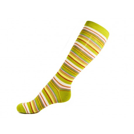 Pack 3 Socks long stripes Girl